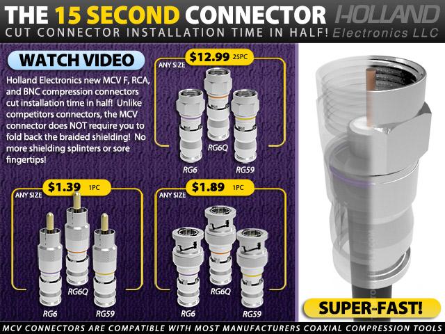 Holland MCV Compression Connectors
