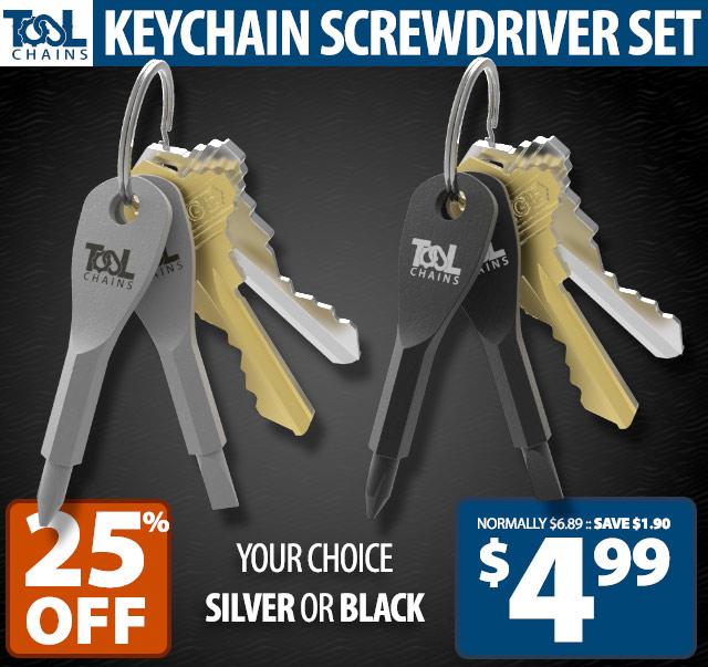 Keychain Screwdriver Set