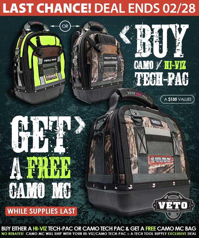 Veto Pro Pac - FREE Camo MC Offer