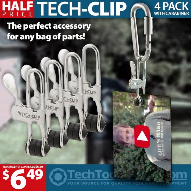 TECH-CLIP w/ Locking Carabiner