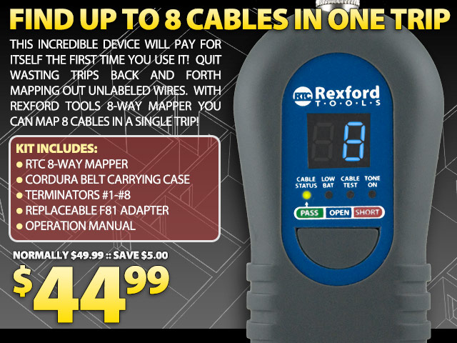 Rexford Tools 8-Way Cable Mapper