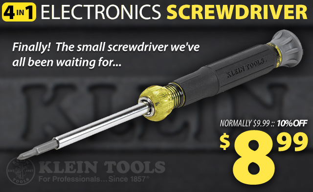 Klein Tools 4-in-1 Electronic Screwdriver