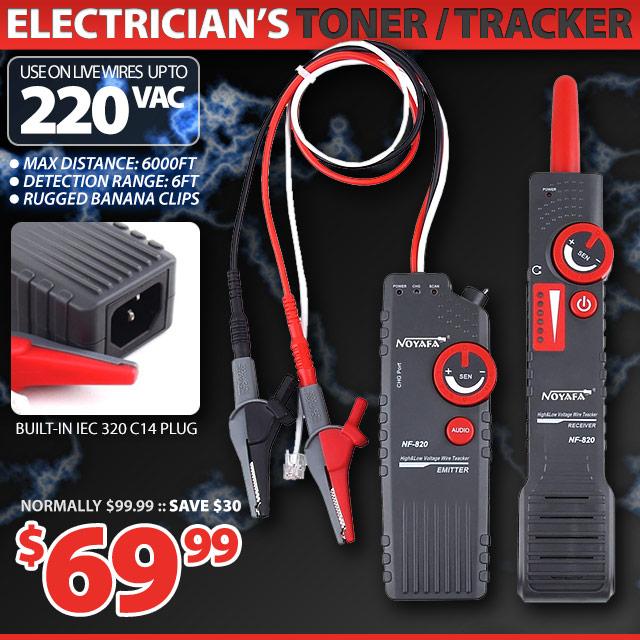 Electricians Tracker Toner