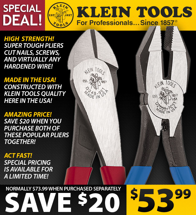 Special Klein Tools Pliers Deal