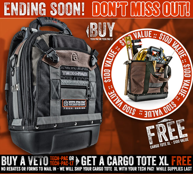 Veto Pro Pac Free Tote Offer