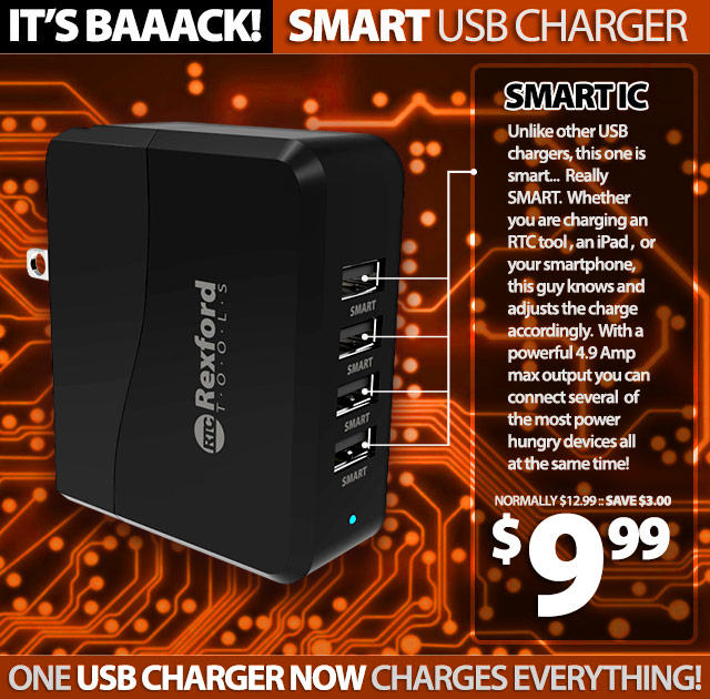 RTC USB Smart Charger