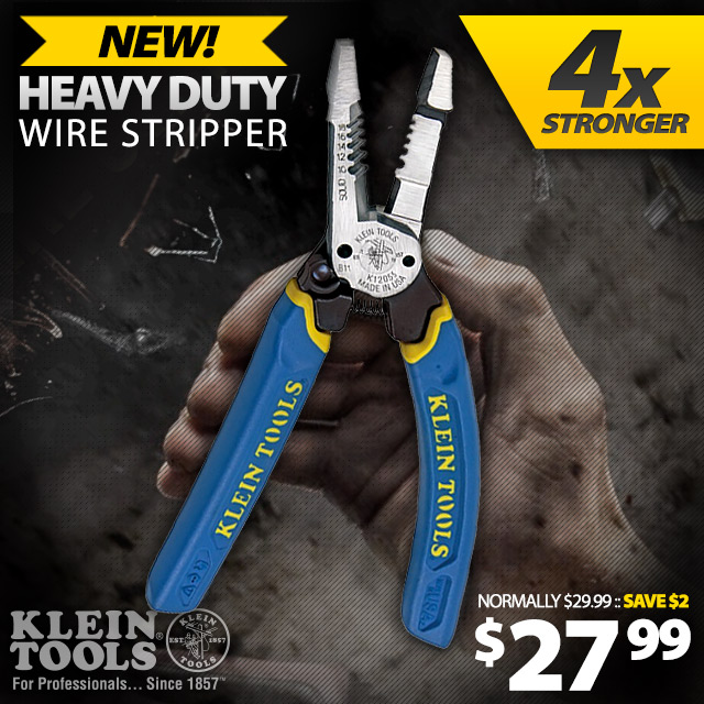 New! Klein Tools Heavy Duty Stripper