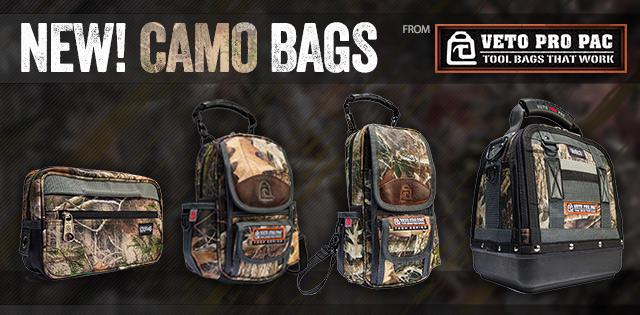 New! Veto Pro Pac Camo Bags
