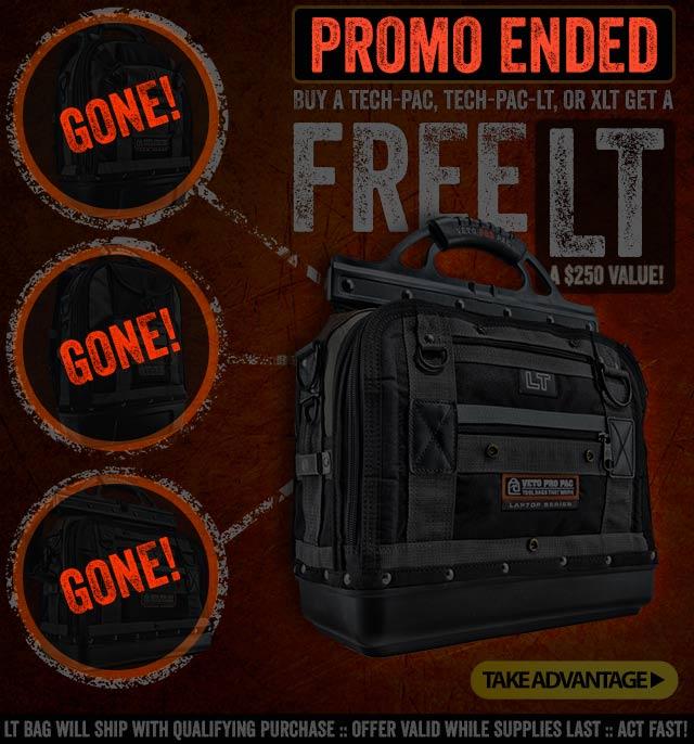 FREE $250 Veto LT Bag