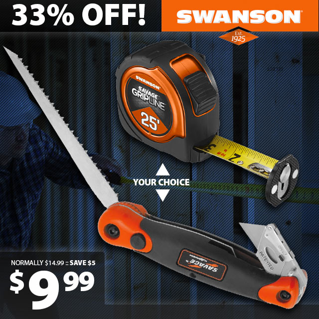 Swanson Jab Saw and Tape Measure