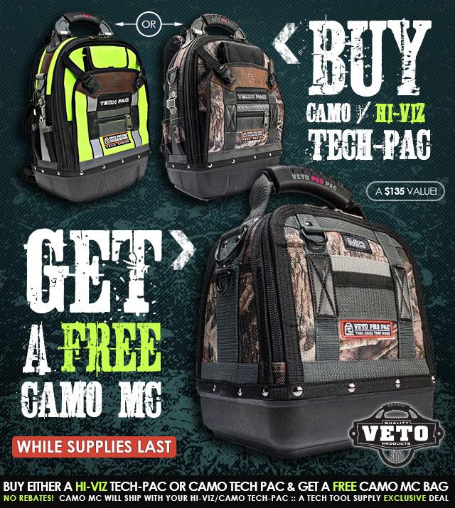 Veto Pro Pac Free CAMO MC Deal