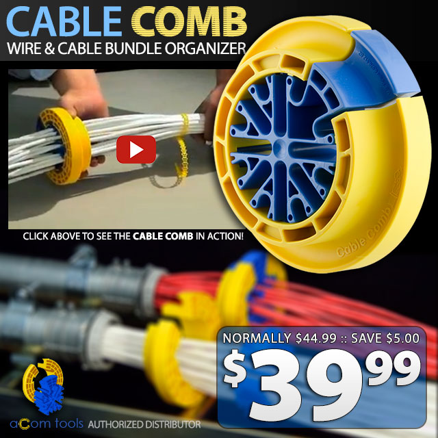 Cable Bundle Comb for Wire and Cable