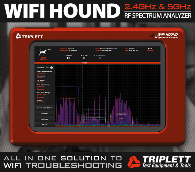 WiFi Hound - 2.4GHz & 5GHz Spectrum Analyzer