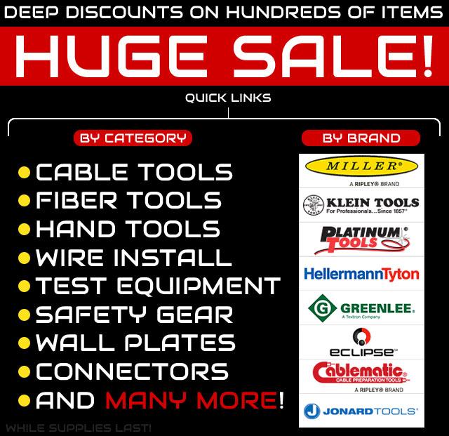 Huge Sale - Deep Discounts on Hundreds of Items