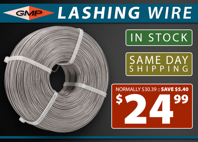 GMP Lashing Wire - In Stock - Same Day Shipping
