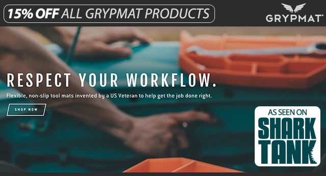 15% Off All Grypmat Products