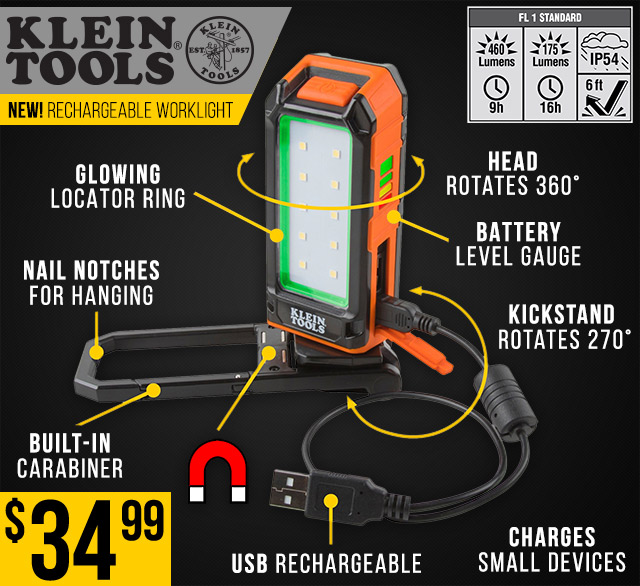 Klein Tools USB Rechargeable Worklight