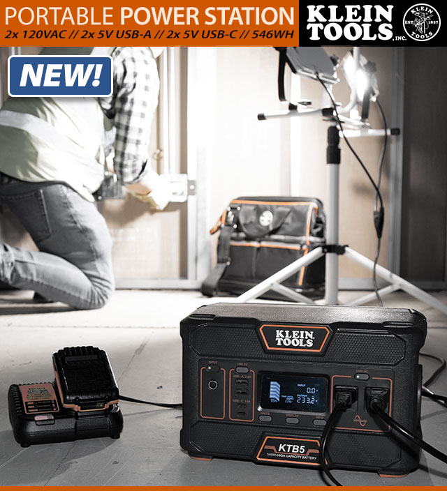 Klein Tools 546Wh Portable Power Station