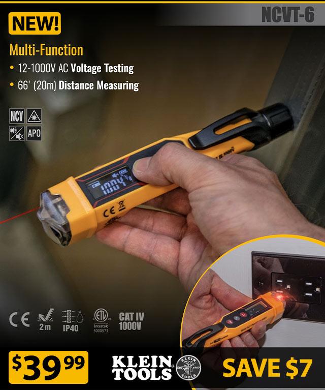 NEW! Klein Tools Non-Contact Voltage Meter w/ Laser Distance