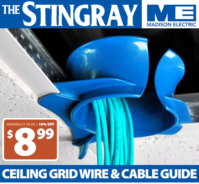 Stingray Ceiling Grid Wire and Cable Guide