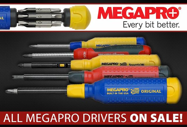 All MegaPro Drivers On Sale!