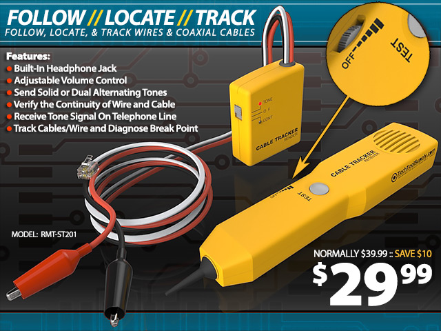 Inductive Cable Tracker & Toner Set