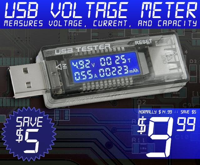 USB 3-in-1 Voltage/Current/Capacity Meter