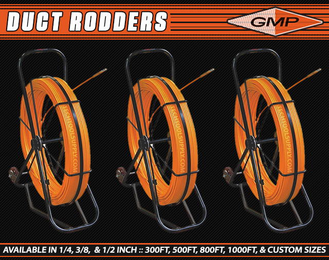 Duct Rodders from GMP - 1/2in & 3/8in