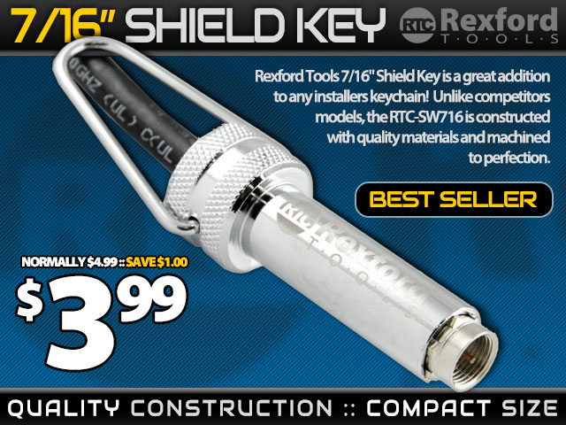 7/16in Slotted Shield Key / Wrench