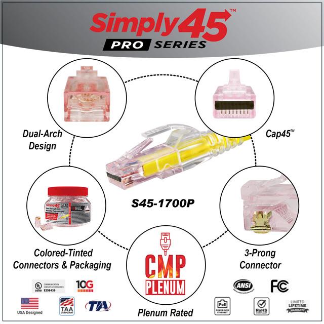 Simply45 Feedthrough RJ45 Connectors