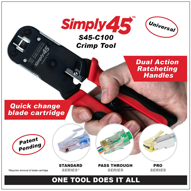 Simply45 Feedthrough RJ45 Crimpers