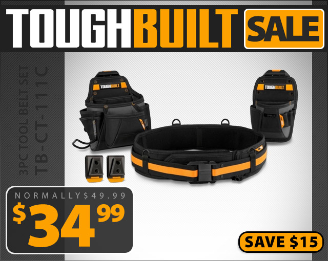 Toughbuilt 3pc Tool Belt Set
