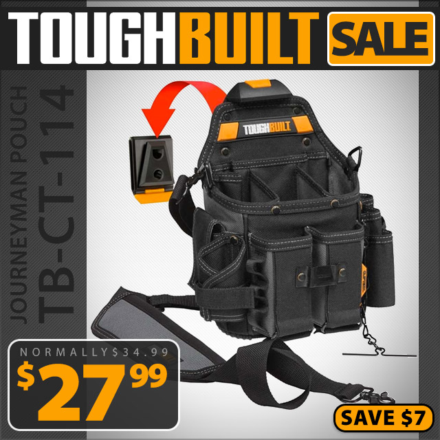ToughBuilt Journeyman Electrician Pouch with Shoulder Strap