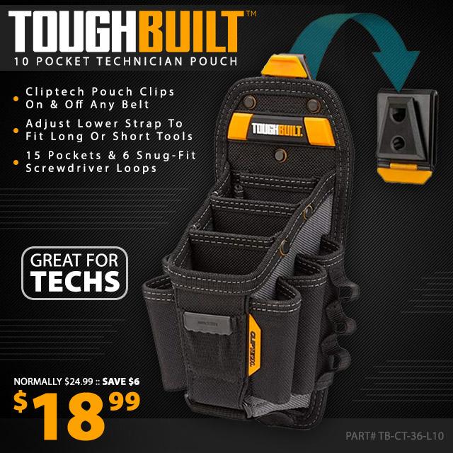 ToughBuilt Technician 10-Pocket Pouch