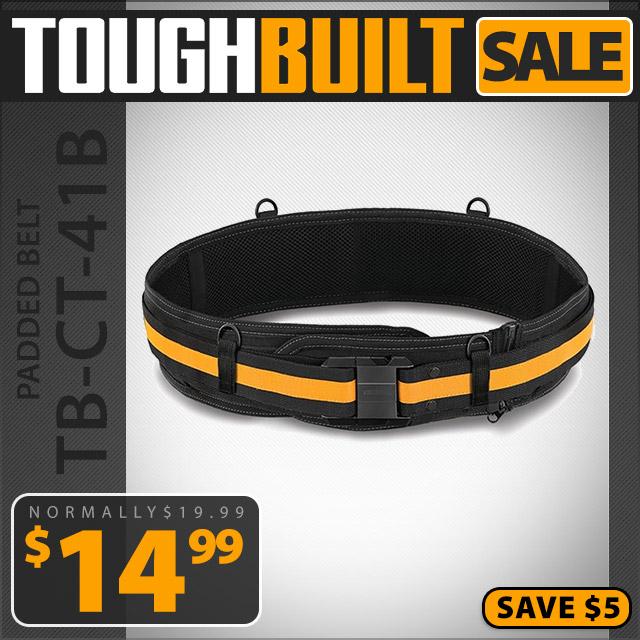 ToughBuilt Padded Belt Heavy Duty Buckle