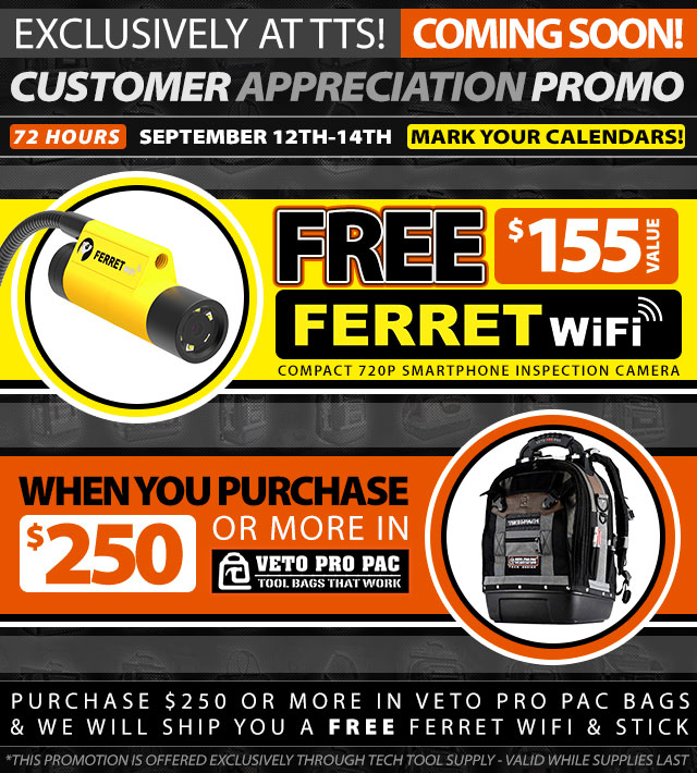 Buy $250 in Veto Bags :: Get a FREE Cable Wifi - $155 Value