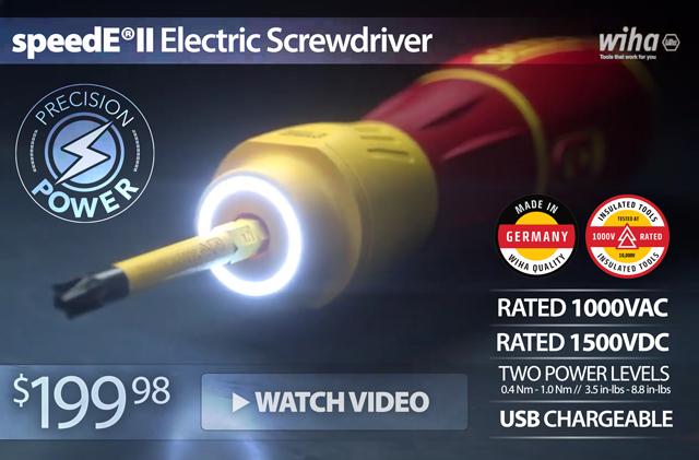 NEW! Wiha SpeedEII Electric Screwdriver