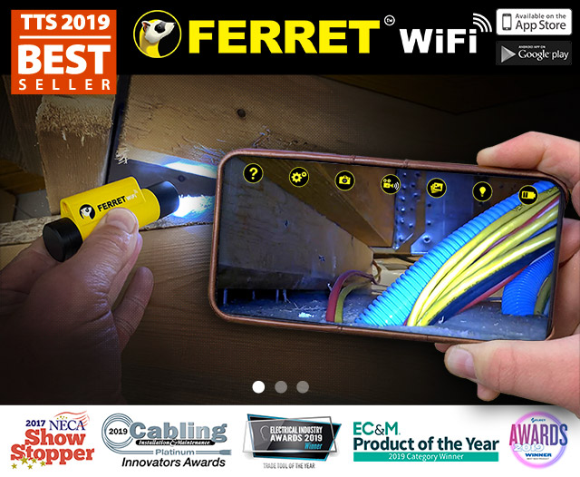 Cable Ferret Wifi - Perfect for Fishing Wires!