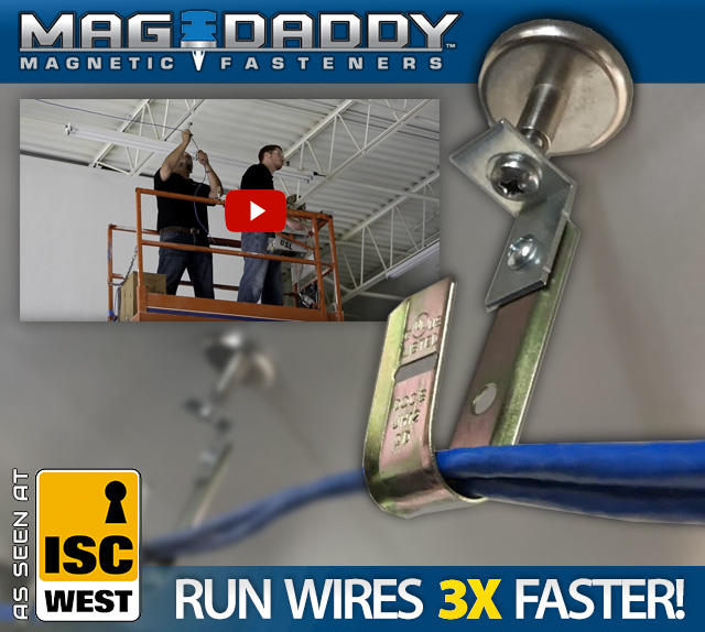 Mag-Daddy Magnetic Wire Hangers - As seen at ISC West