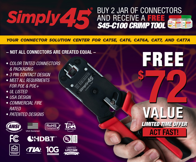 FREE Simply 45 Crimper with Two Jars of Connectors!