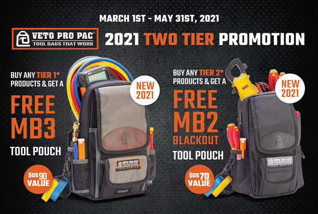 Free Veto Pro Pac Bag Promo